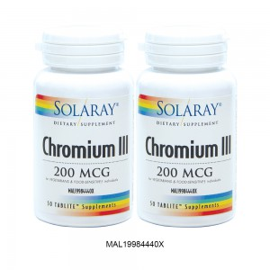 [TWIN PACK] SOLARAY CHROMIUM III - 2 x 50 Tablites (MAL19984440X)